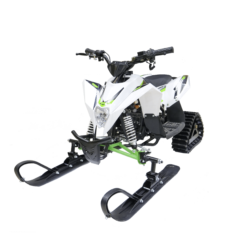 Десткий снегоход Gekkon Snow (Снегоцикл) бело- зеленый (до 45 км/ч, дисковые тормоза, до 60 кг)